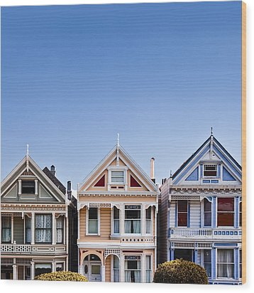 Painted Ladies Wood Print by Dave Bowman