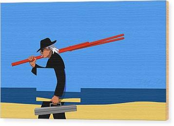Painter   Wood Print by Tom Dickson