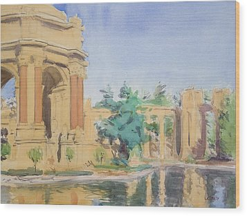 Palace Of Fine Arts Wood Print by Walter Lynn Mosley