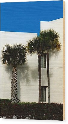 Palms Wood Print by Bruce Lennon