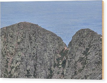 Pamola And Chimney Peaks Wood Print by Lori Deiter