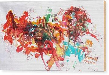 Paolo Fresu Wood Print by Massimo Chioccia and Olga Tsarkova