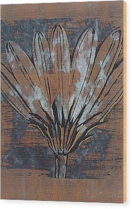 Paper Flower Wood Print by Megan Washington