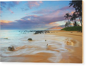 Paradise Dawn Wood Print by Mike  Dawson