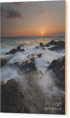 Paradise Flow Wood Print by Mike  Dawson
