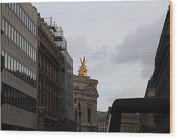 Paris France - Street Scenes - 0113106 Wood Print by DC Photographer