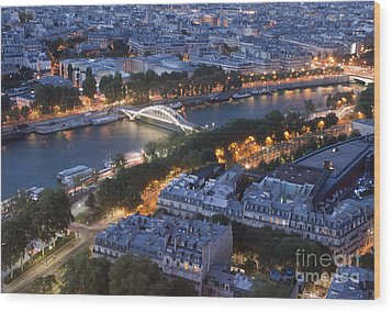 Paris View Wood Print by Ivete Basso Photography