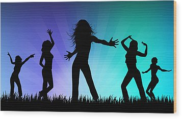 Party People Wood Print by Aged Pixel