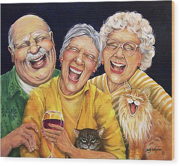 Party Pooper Wood Print by Shelly Wilkerson