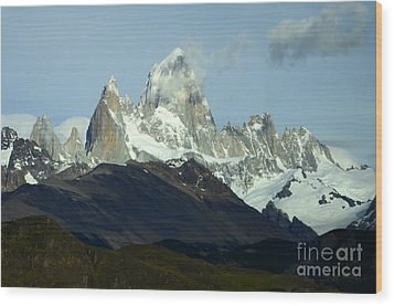 Patagonia Mount Fitz Roy 1 Wood Print by Bob Christopher
