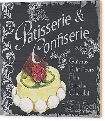 Patisserie And Confiserie Wood Print by Debbie DeWitt