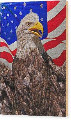 Patriot Wood Print by Matthew Bamberg