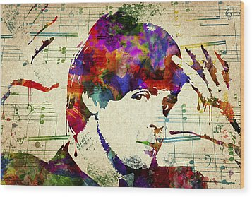 Paul Mccartney Wood Print by Aged Pixel