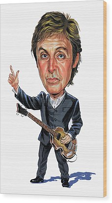 Paul Mccartney Wood Print by Art