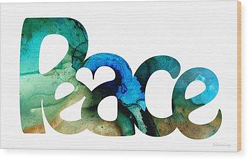 Peace Full 13 Wood Print by Sharon Cummings