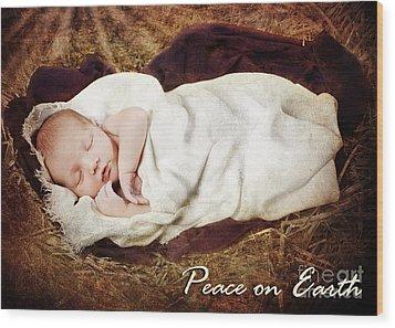 Peace On Earth Wood Print by Cindy Singleton