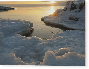 Peaceful Moment On Lake Superior Wood Print by Sandra Updyke