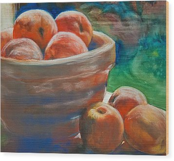 Peach Fuzz Wood Print by Jani Freimann