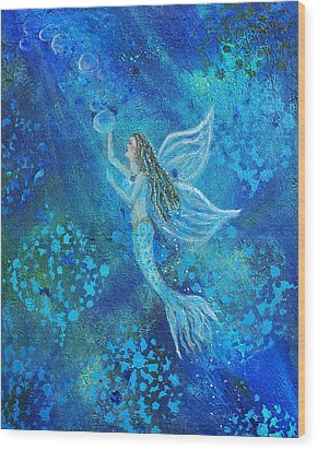Pearl Out Of The Depths Wood Print by The Art With A Heart By Charlotte Phillips