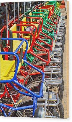 Pedicars Wood Print by Bernard  Barcos