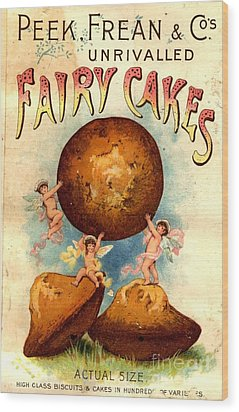 Peek, Frean And Co 1890s Uk Fairy Cakes Wood Print by The Advertising Archives