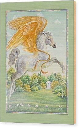Pegasus Wood Print by Lynn Bywaters
