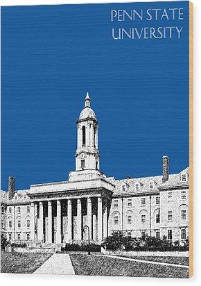Penn State University - Royal Blue Wood Print by DB Artist