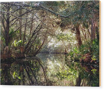 Pepper Creek Wood Print by Sheri McLeroy