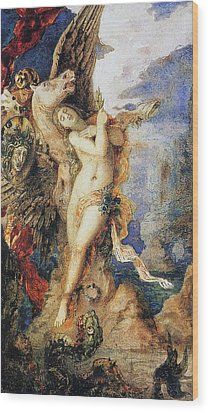 Perseus And Andromeda Wood Print by Gustave Moreau
