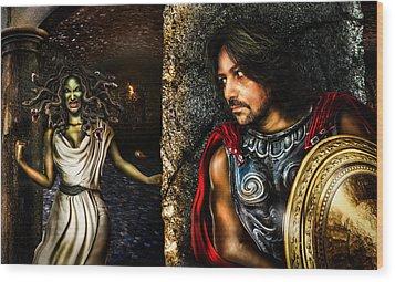 Perseus And Medusa Wood Print by Alessandro Della Pietra