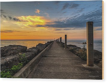 Perspective Light Wood Print by Mark Papke