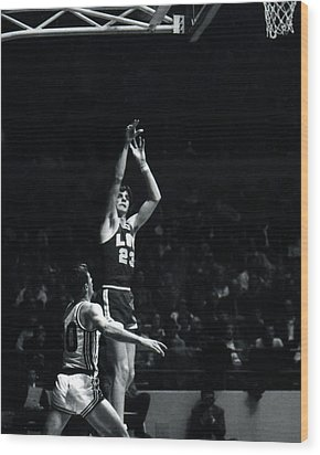 Pete Maravich Shooting From Distance Wood Print by Retro Images Archive