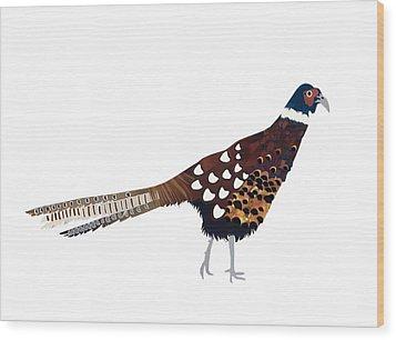Pheasant Wood Print by Isobel Barber