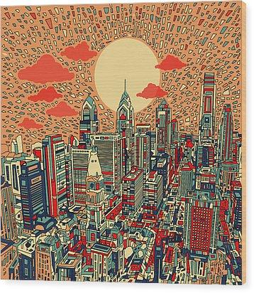 Philadelphia Dream Wood Print by Bekim Art