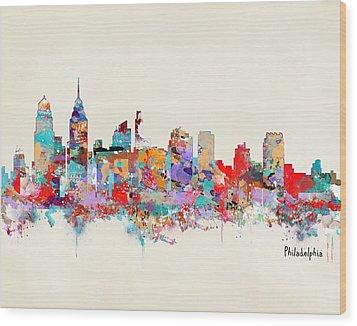 Philadelphia Skyline Wood Print by Bri B