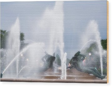 Philadelphia - Swann Memorial Fountain Wood Print by Bill Cannon