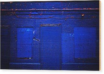 Philly Blues Wood Print by Beth Akerman