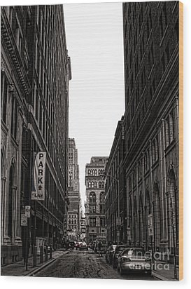 Philly Street Wood Print by Olivier Le Queinec