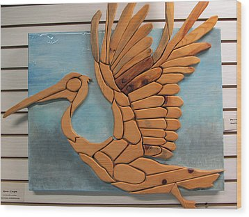 Phoenix Pelican Wood Print by Dedo Cristina