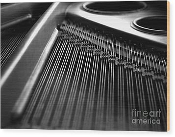 Piano Strings Wood Print by Tim Hester