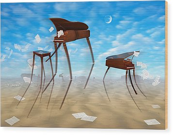 Piano Valley Wood Print by Mike McGlothlen