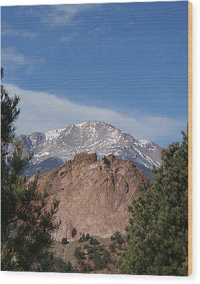 Pikes Peak 2 Wood Print by Ernie Echols