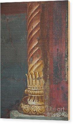 Pillar Wood Print by Marion Galt