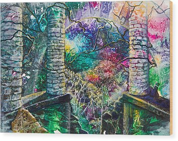 Pillars At The Edge Of The World Wood Print by Patricia Allingham Carlson