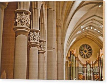 Pillars Of Faith Wood Print by Will Cardoso