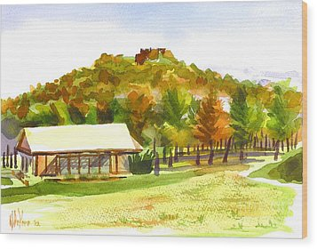 Pilot Knob Mountain 2 Wood Print by Kip DeVore