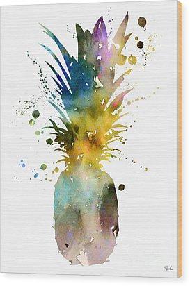 Pineapple 2 Wood Print by Luke and Slavi