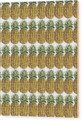 Pineapple Parade Wood Print by John Keaton