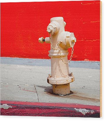 Pink Fire Hydrant Wood Print by Art Block Collections