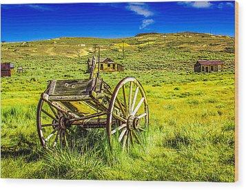 Pioneer Coach Wood Print by Marius Sipa